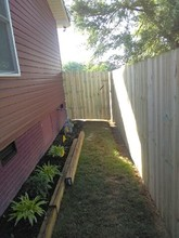 Wood privacy fence installation on 11-17-17