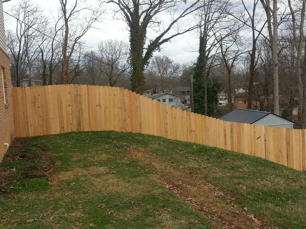 Wood Fence on 40 degree incline
