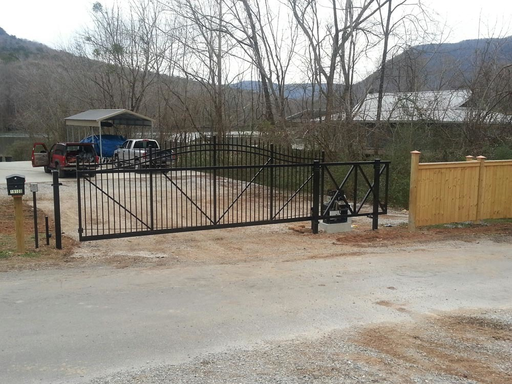 Wood And Aluminum With Gate Operator On River Action