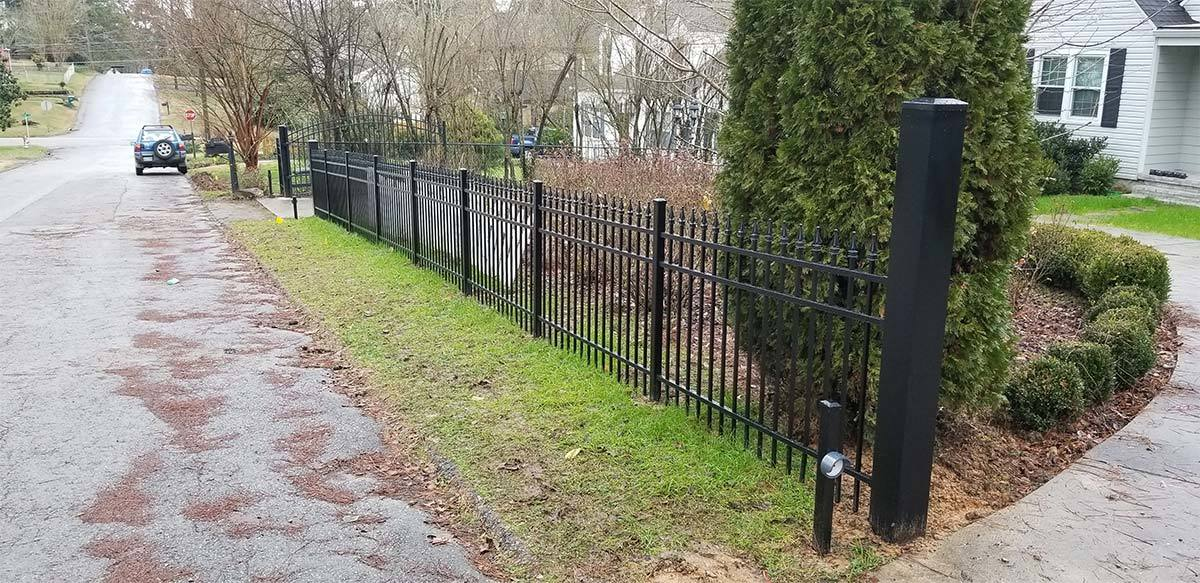 Black Aluminum Fence Parker Job Action Fence Company